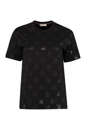Fendi Printed Cotton T-shirt