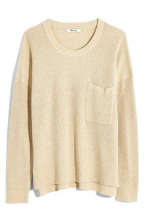 Madewell Thompson Pocket Pullover Sweater (Regular & Plus Size) tan