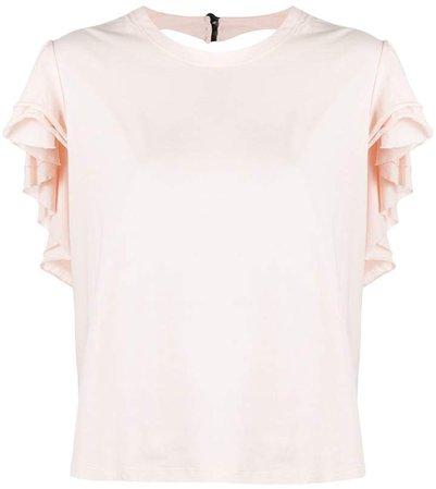 Parlor ruffled cut-out T-shirt