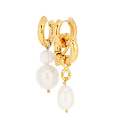 Mismatched Gold-Plated Earrings | Timeless Pearly - Mytheresa