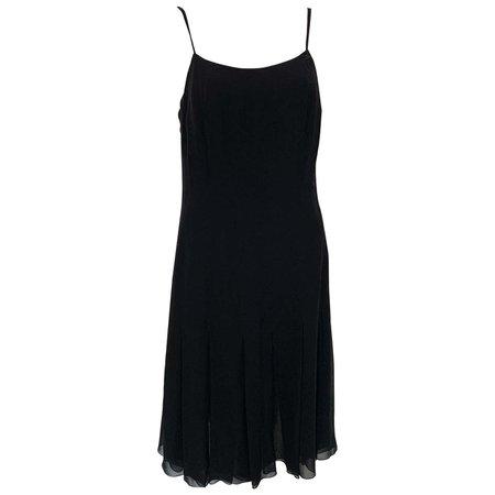 Chanel Black Slip Dress Spring 2004 For Sale at 1stDibs
