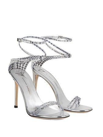 Giuseppe Zanotti wrap-around Crystal Sandals - Farfetch