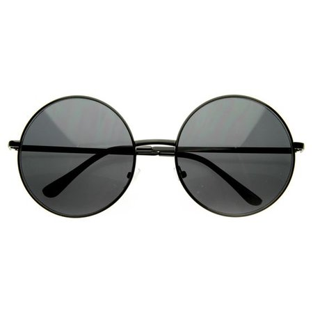 *clipped by @luci-her* Oversize Vintage Inspired Metal Round Circle Sunglasses 8370