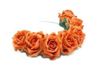 Orange Roses Headband