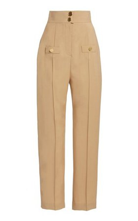 Wide Leg Pleated Linen Pant by Matthew Bruch | Moda Operandi