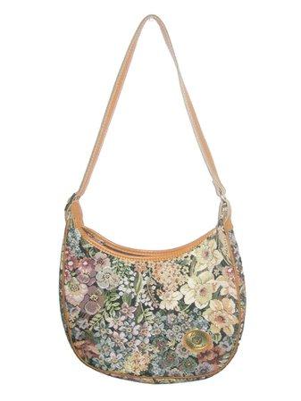 VTG Estee Valanche Multicolor Floral Leaf Tapestry Fabric Tan | Etsy