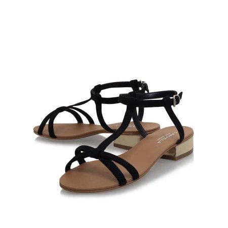BRAVO Black Flat Sandals by CARVELA | Kurt Geiger