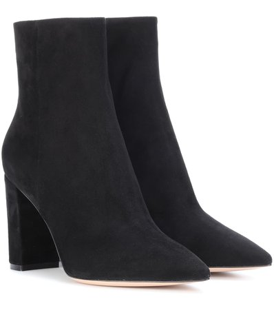 Piper 85 Suede Ankle Boots | Gianvito Rossi - mytheresa