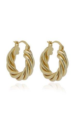 Diane 14k Gold-Plated Hoop Earrings By Emili | Moda Operandi