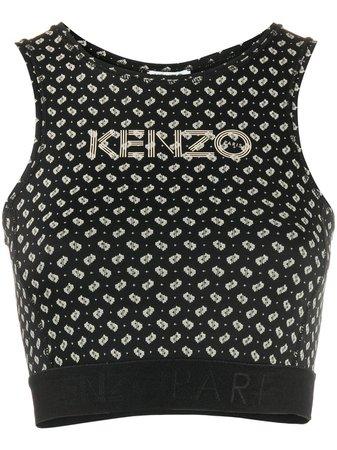 Kenzo tile-print Cropped Tank Top - Farfetch