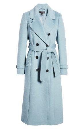 Halogen® x Atlantic-Pacific Long Wool Blend Trench Coat (Nordstrom Exclusive) | Nordstrom