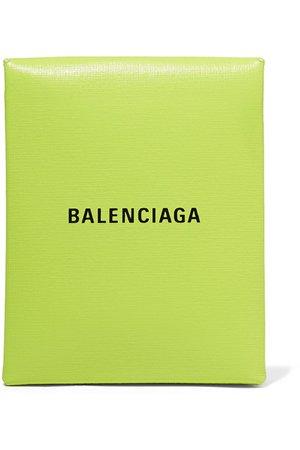Balenciaga | Shopping Envelope printed textured-leather clutch | NET-A-PORTER.COM
