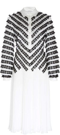 Colette Pleated Georgette Dress