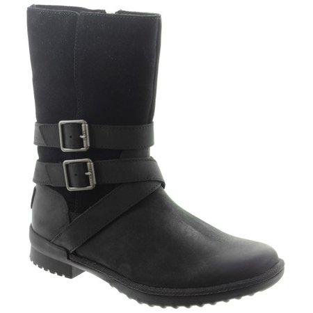 Ugg Ladies Lorna Calf Boots In Black in Black
