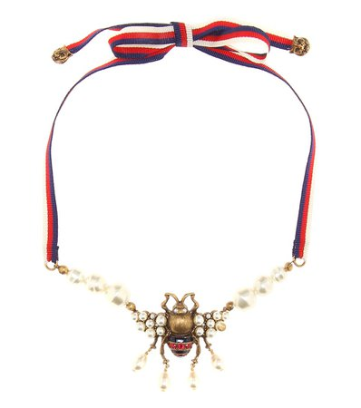 Gucci - Embellished necklace | Mytheresa