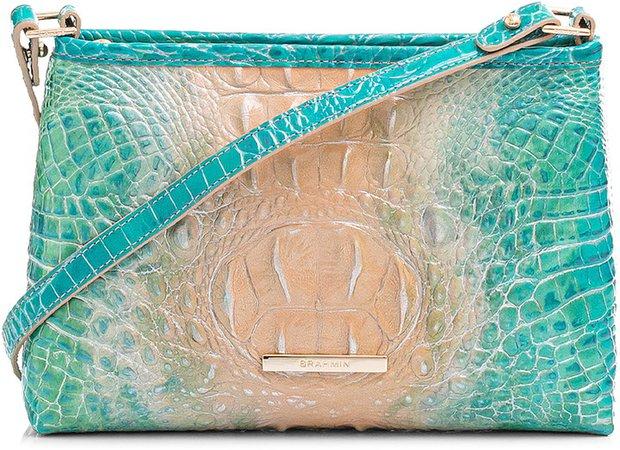 Lorelei Croc Embossed Leather Shoulder Bag