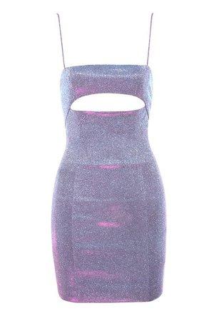 'Creed' Lilac Rainbow Sparkle Mini Dress - Mistress Rocks