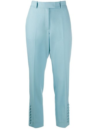 Racil Straight-Leg Tailored Trousers RS10P1WVICTOR Blue   Farfetch