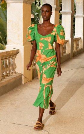 Culture Puff-Sleeve Floral Cotton Midi Dress By Johanna Ortiz | Moda Operandi
