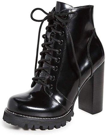 Amazon.com | Jeffrey Campbell Women's Legion Lace Up High Heel Booties, Black Box, 7 Medium US | Ankle & Bootie