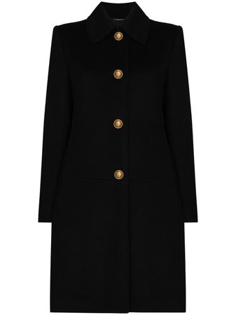 Givenchy, chain-detail single-breasted coat