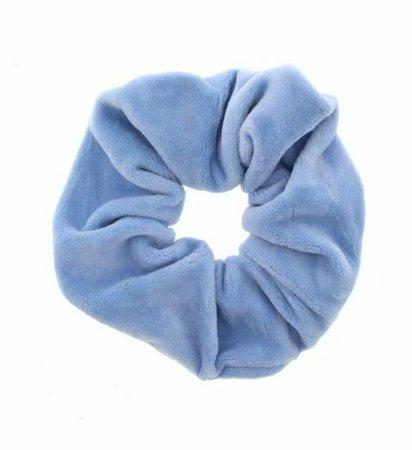 Baby Blue Colour Luxury Velvet 4cm Large Hair Band Scrunchie Ponytail Brand New | eBay
