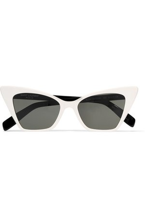 Saint Laurent | Two-tone cat-eye acetate sunglasses | NET-A-PORTER.COM