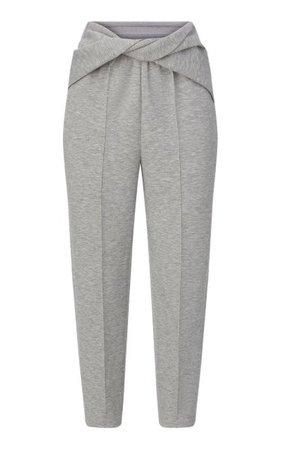 Twisted Jersey Tapered Pants By Brandon Maxwell | Moda Operandi