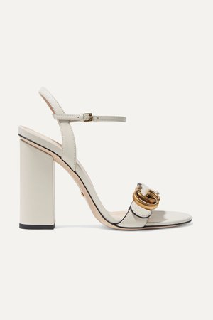 Ivory Marmont logo-embellished leather sandals | Gucci | NET-A-PORTER