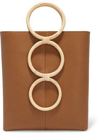 Carolina Santo Domingo - Petra Mini Textured-leather And Wicker Tote - Tan