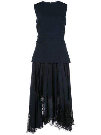 Oscar De La Renta, Layered Pleated Dress