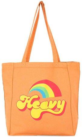 rainbow print shopper bag