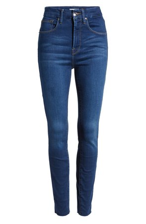 Good Waist High Waist Raw Hem Skinny Jeans GOOD AMERICAN