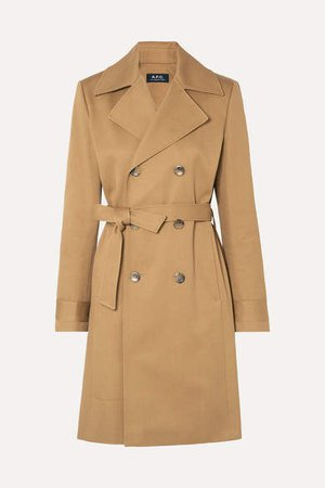 Alexis Cotton-drill Trench Coat - Beige