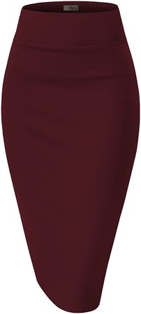 Hybrid & Company Womens Pencil Skirt for Office Wear KSK43584 1139 Black XL at Amazon Women's Clothing store