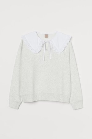 H&M+ Collared Sweatshirt - Gray