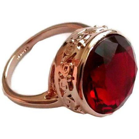 Vintage Ruby & Rose Gold Ring
