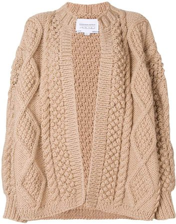 chunky knit cardi-coat
