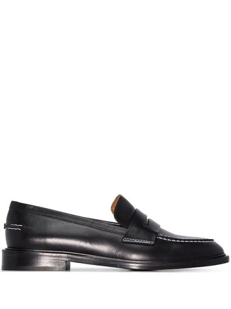 Atp Atelier Stitch-Trimmed Leather Penny Loafers Aw20 | Farfetch.Com
