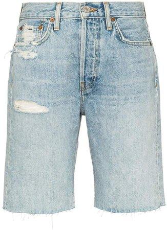 '80s distressed denim shorts