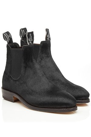 Calf Hair Ankle Boots Gr. US 8.5