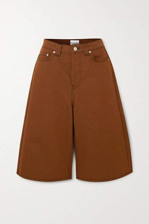 Denim Shorts - Light brown