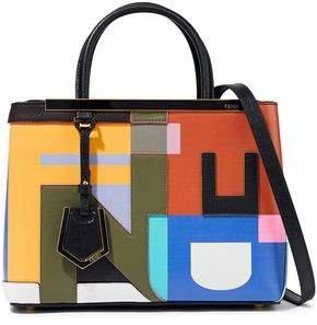 2jours Petite Appliqued Color-block Leather Tote