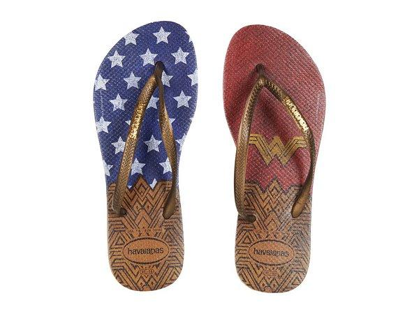 Havaianas - Slim Wonder Woman Flip-Flops (Rose Gold) Women's Sandals