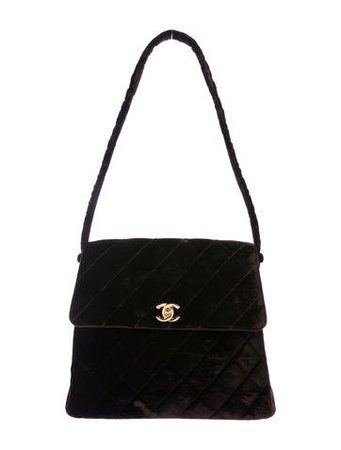 CHANEL VINTAGE VELVET FLAP BAG