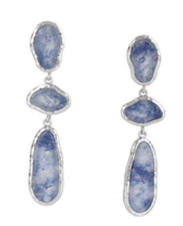 Bcbg Maxazria Hammered Natural Stone Earrings