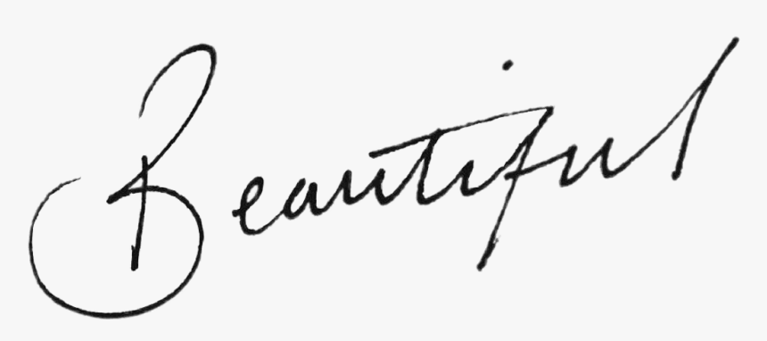 #word #tumblr #beautiful #script #cursive #pretty - Word Beautiful In Cursive, HD Png Download - kindpng