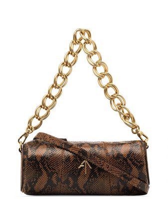 Shop multicolour Manu Atelier mini cylinder snake effect shoulder bag with Express Delivery - Farfetch