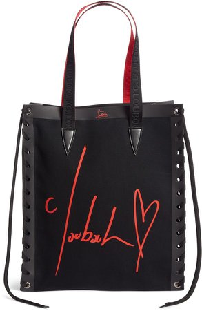Small Cabalace Canvas & Leather Tote