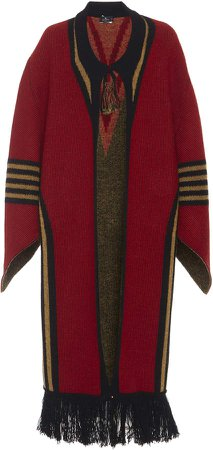 Etro Ribbed Knit Wool-Blend Coat